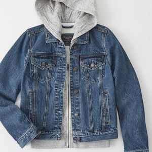 Abercrombie Hooded Jean Jacket NWT XS